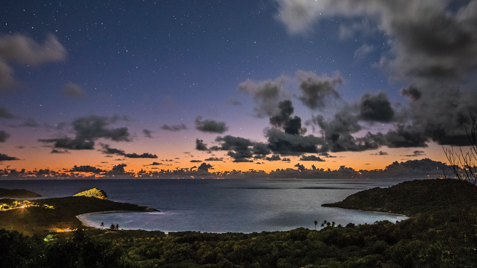 half moon bay antigua night