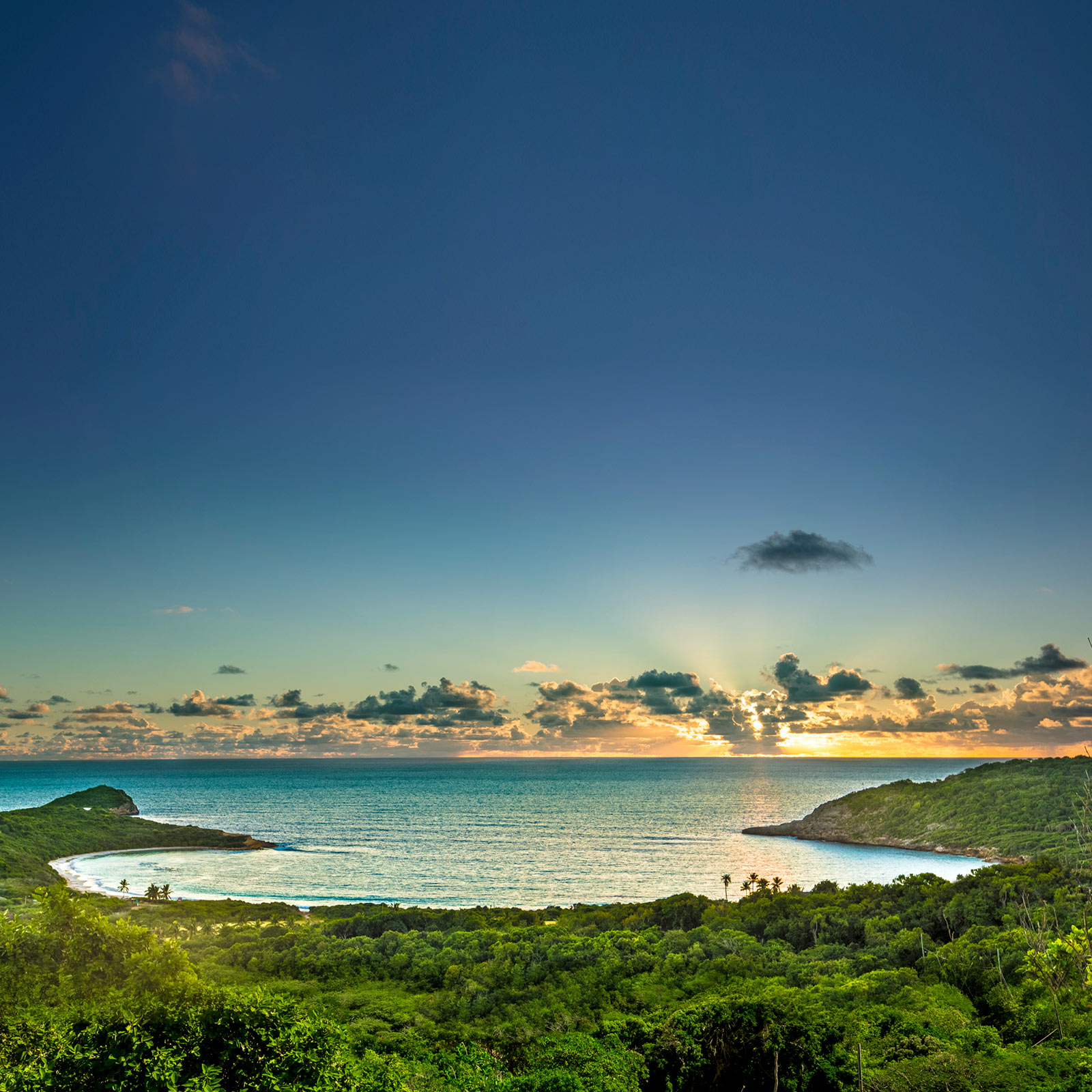 half moon bay antigua sunset